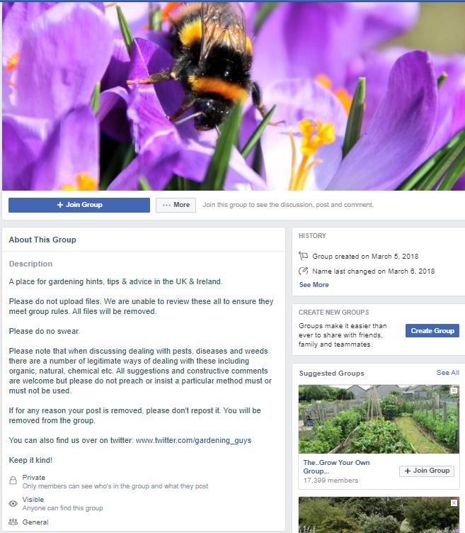 Flower arranging Group on facebook