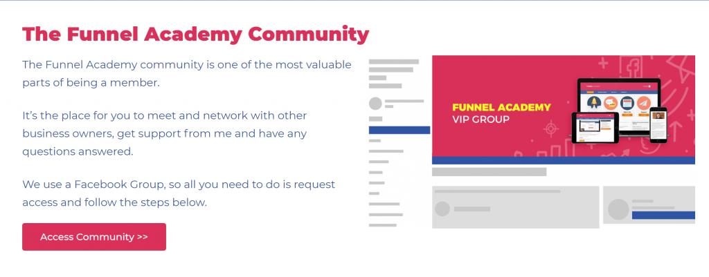 Screenshot of community forum
