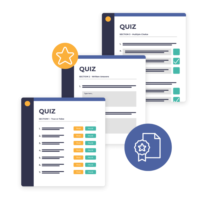 Membership quizzes and certificates