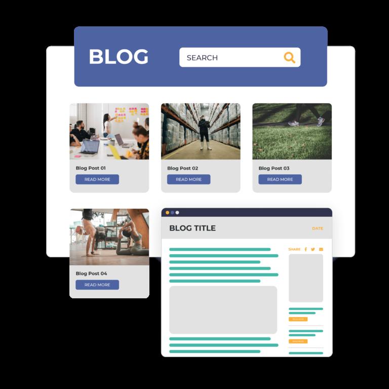 Blog containing membership website information